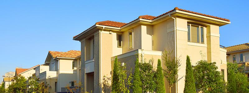家が建ち並ぶ住宅街